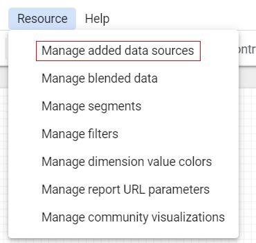 manage datasource