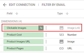 new calculated field of type Image Link