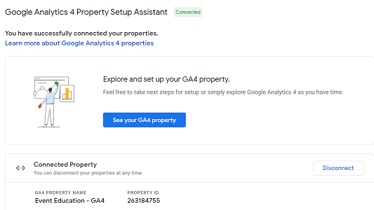 see your GA4 property
