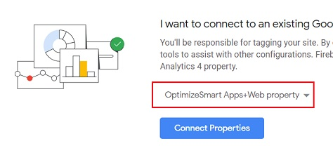 select your apps and web property