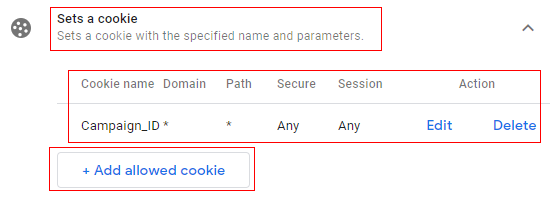 set cookie