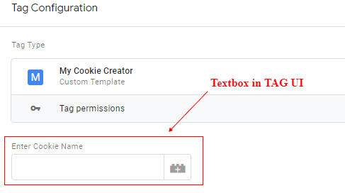 textbox in tag ui
