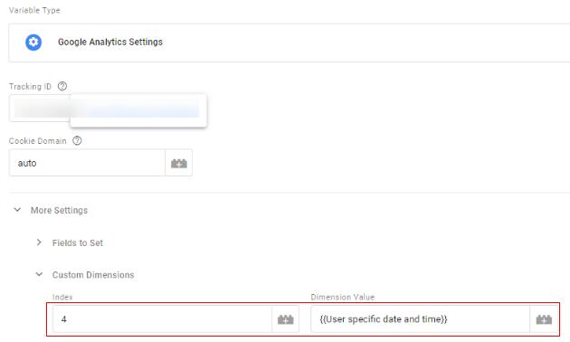 update analytics settings variable