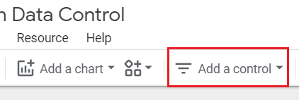 Add a control data studio