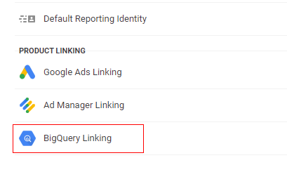 Big query linking