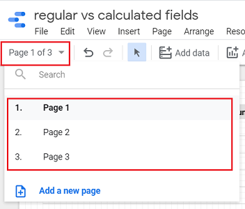 Distribute related charts across multiple pages