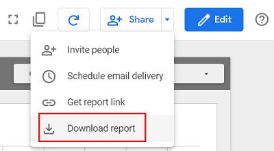 Download Report google data studio