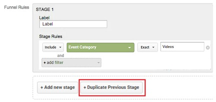 Duplicate Previous stage of your custom funnel