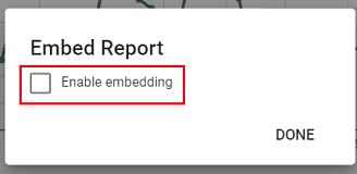 Enable embedding