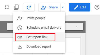 Get report link