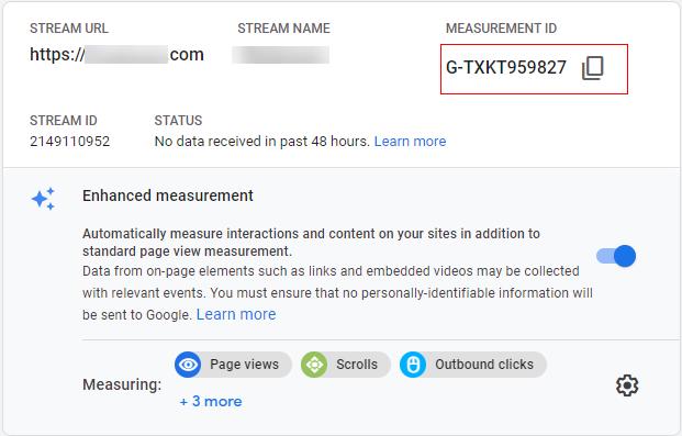 Web Stream details