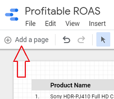 add a page data studio