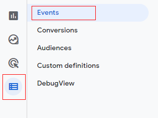 configure events 1