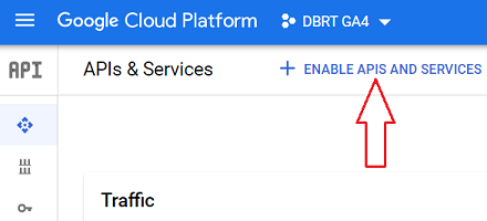 connect google analytics 4 with bigquery ENABLE APIS AND SERVICES bigquery