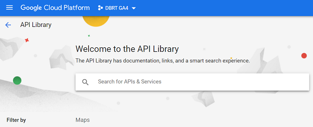 connect google analytics 4 with bigquery welcome to the api library 1