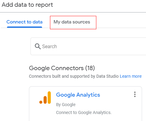 existing data source 1