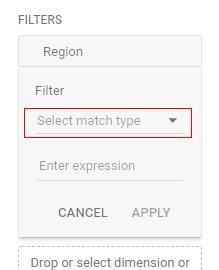 exploration report match type