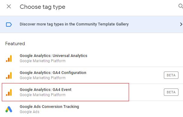 ga4 custom events gtm event
