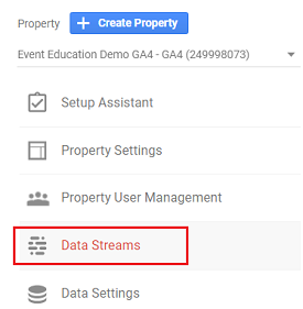 ga4 measurement id Data Stream ga4