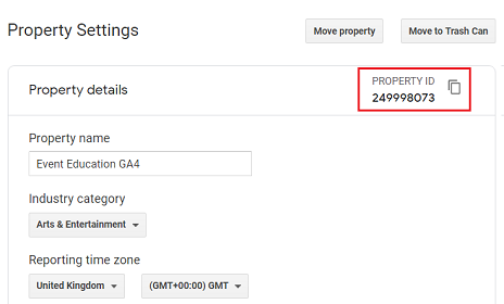 ga4 measurement id Property ID ga4