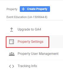 ga4 measurement id Property Settings google analytics