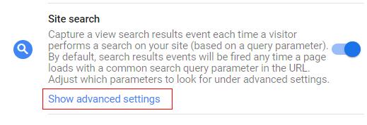 ga4 site search tracking advance settings