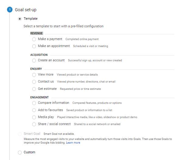 geek guide funnels Goal Setup