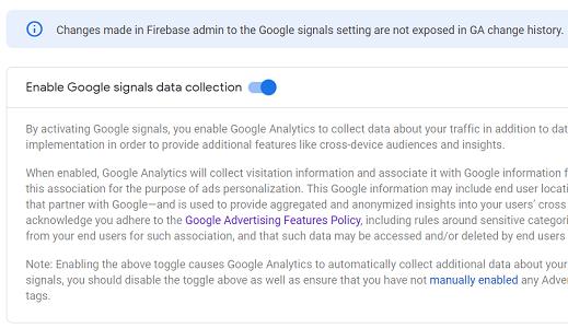 google signals demographics Enable Google Signals data collection ga4