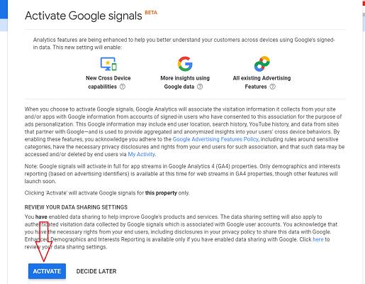 google signals demographics activate google signals ga4