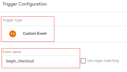 gtm ecommerce tracking checkout trigger
