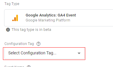gtm ecommerce tracking config tag