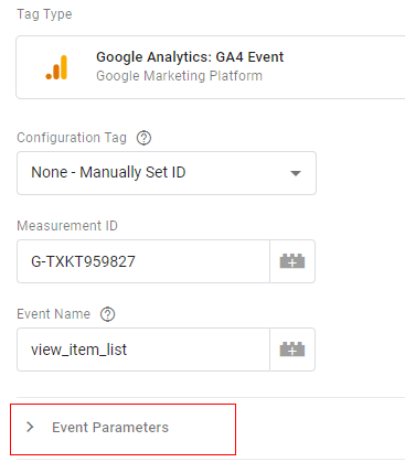 gtm ecommerce tracking events paramters