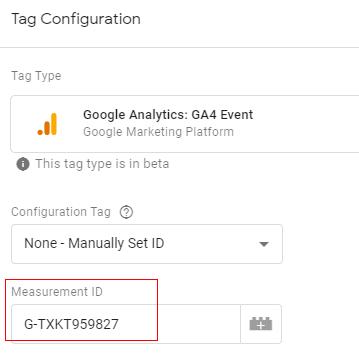 gtm ecommerce tracking measurement id