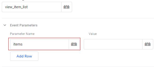 gtm ecommerce tracking param name