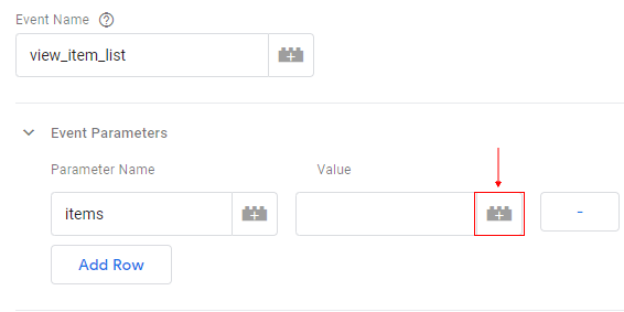 gtm ecommerce tracking param value