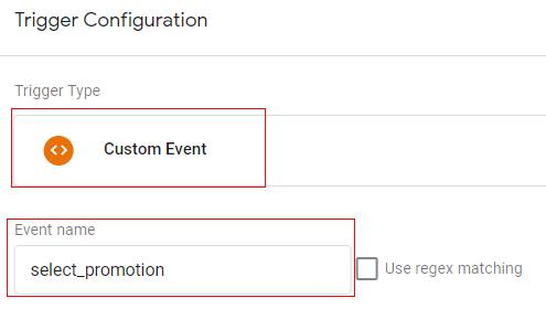 gtm ecommerce tracking promotion trigger