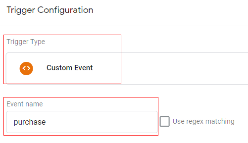 gtm ecommerce tracking purchase trigger