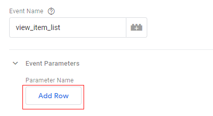 gtm ecommerce tracking save row