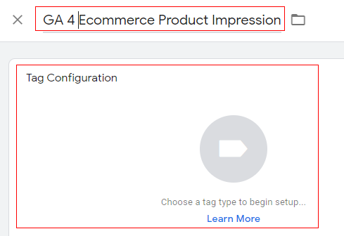 gtm ecommerce tracking tag configuration