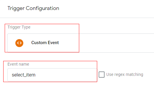 gtm ecommerce tracking trigger config