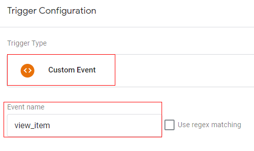 gtm ecommerce tracking trigger config2