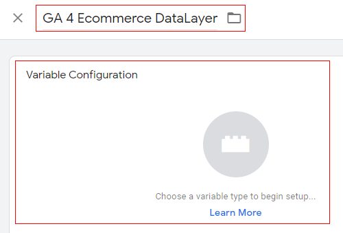 gtm ecommerce tracking variable config