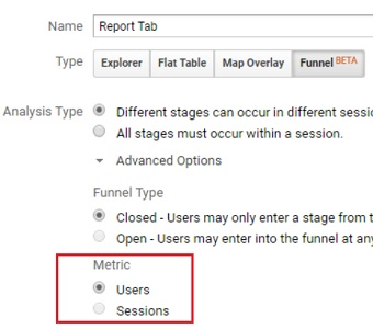 metric type custom funnels analytics 360