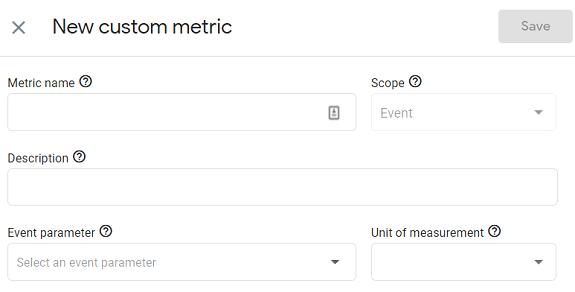 new custom metric g4
