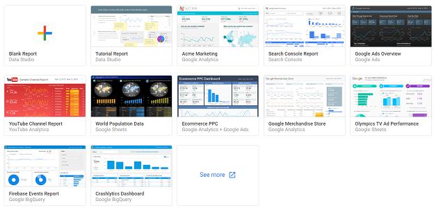 report template google data studio