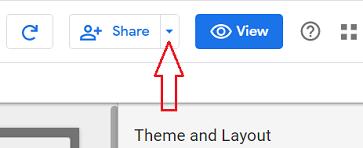 share button google data studio