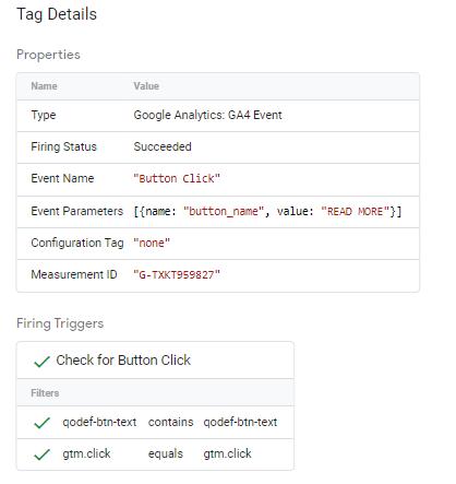 tag details