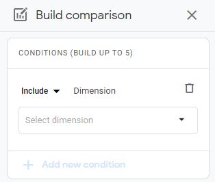 comparisons (advanced segments) in Google Analytics 4