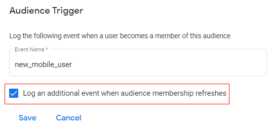Audience Triggers in Google Analytics 4