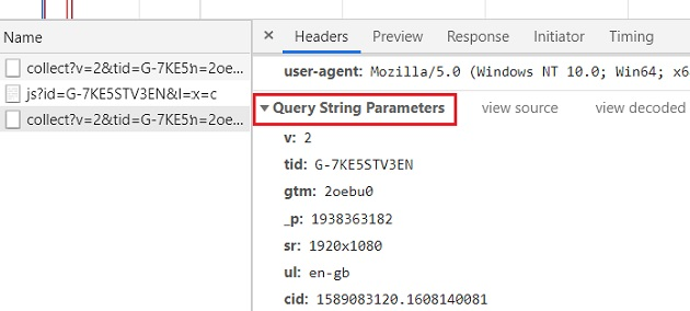 Query String Parameters 1